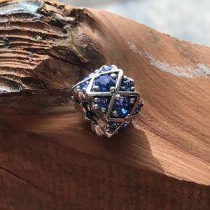 NWOT Chamilia Swarovski Shimmering Blue Crystal